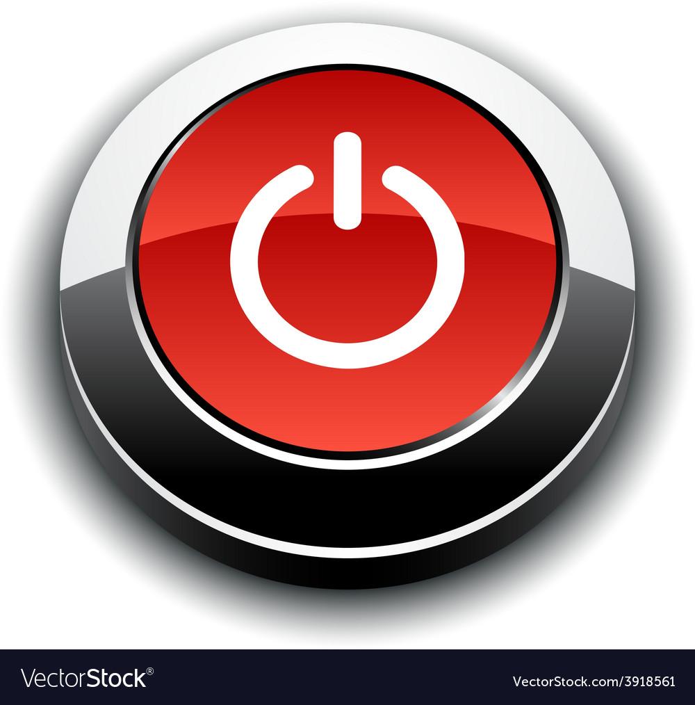 Switch 3d round button vector