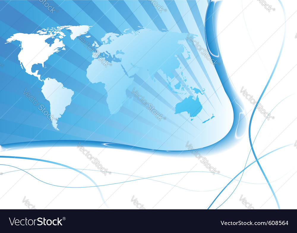 Business concept - global land vector