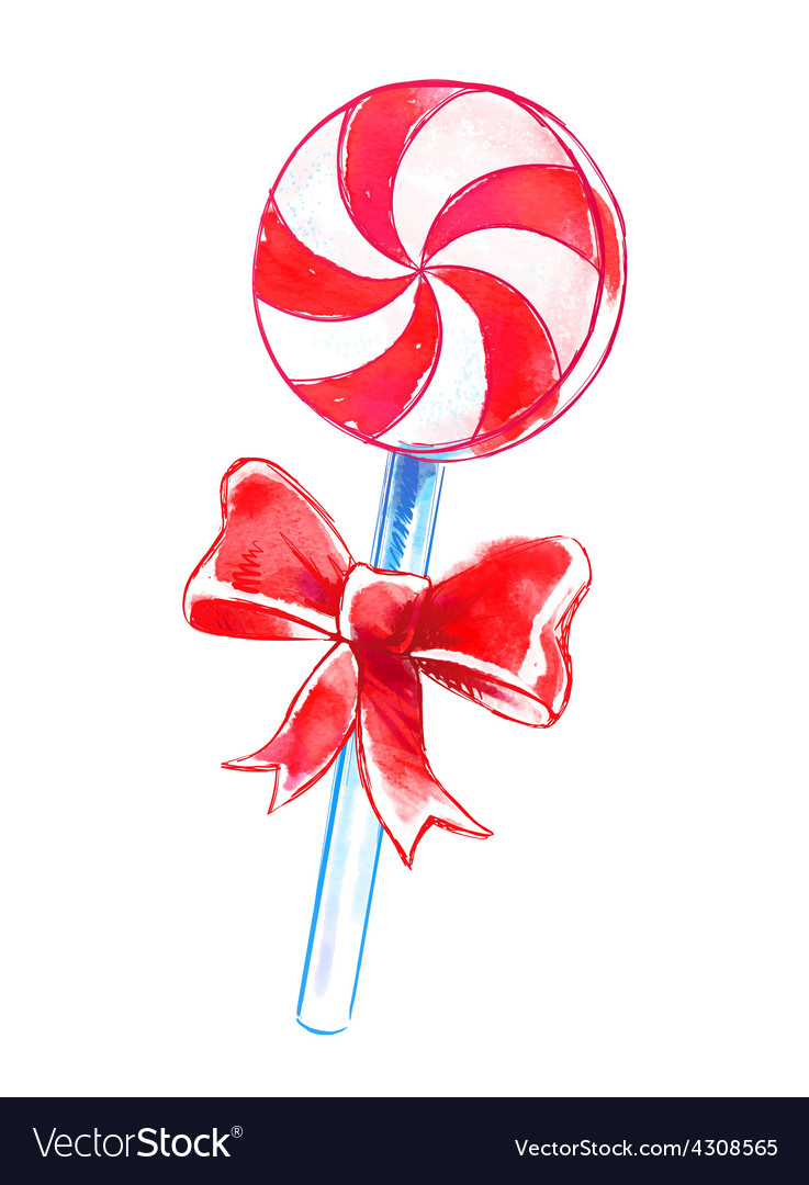 Candy watercolor art vector