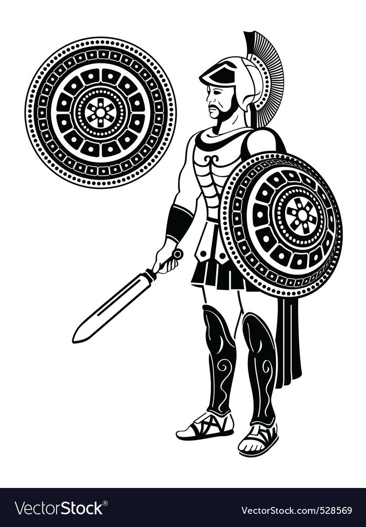 Roman warrior vector