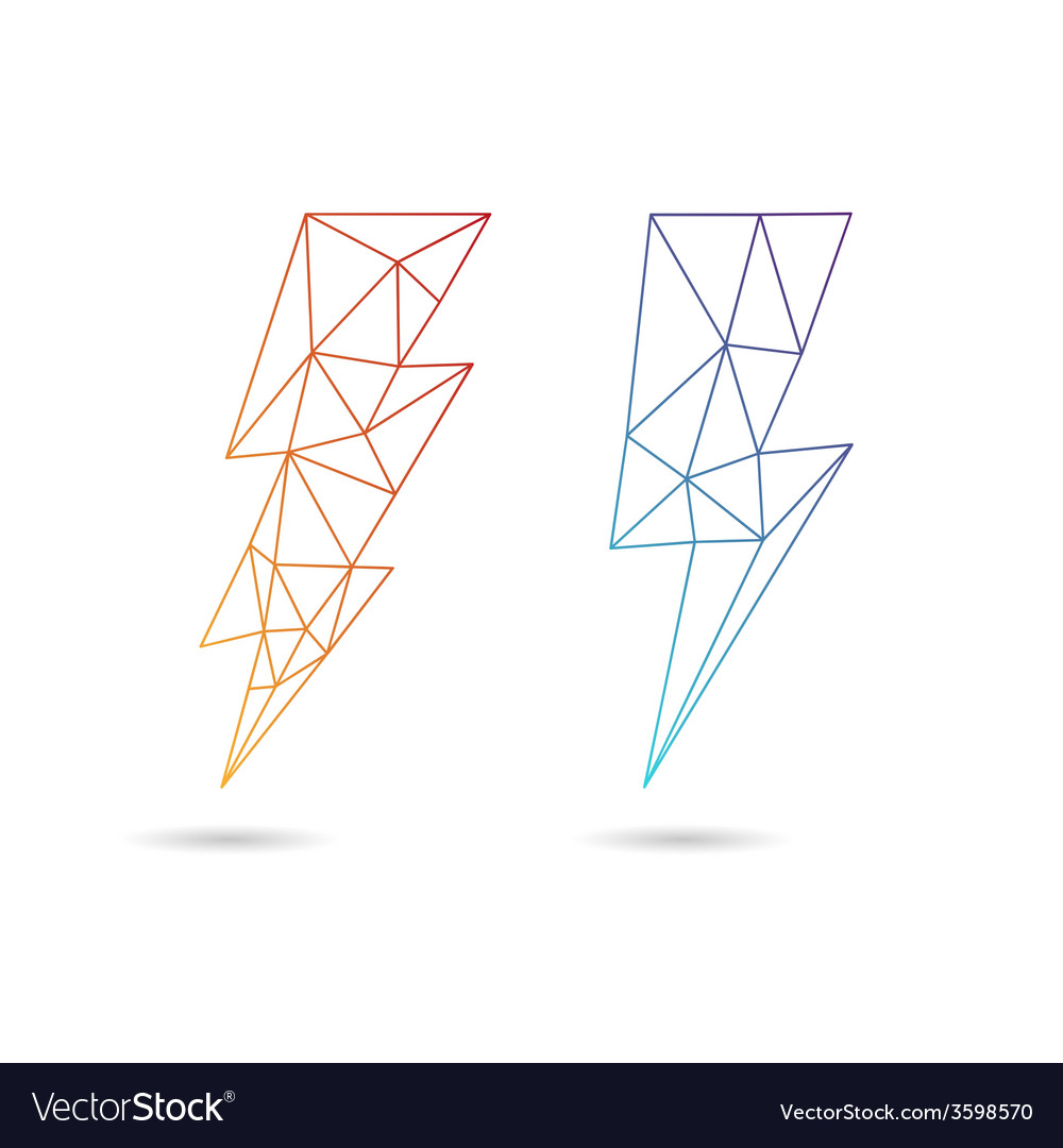Lightning icon abstract vector
