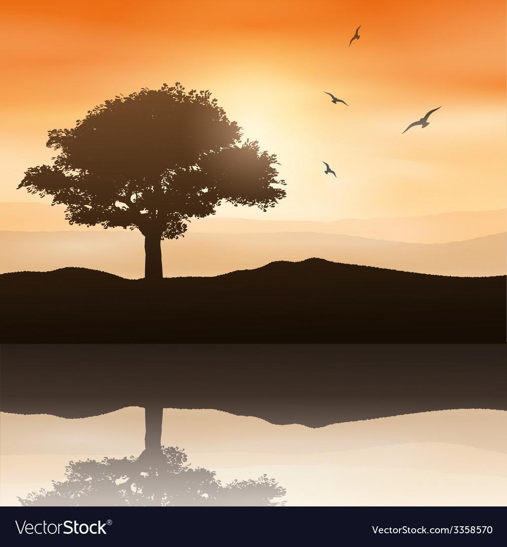Tree landscape vector