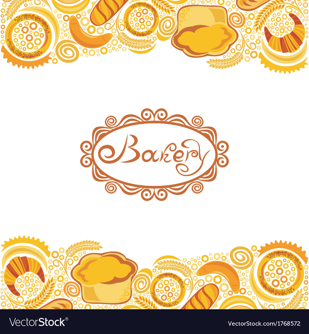 Bakery bread background vector