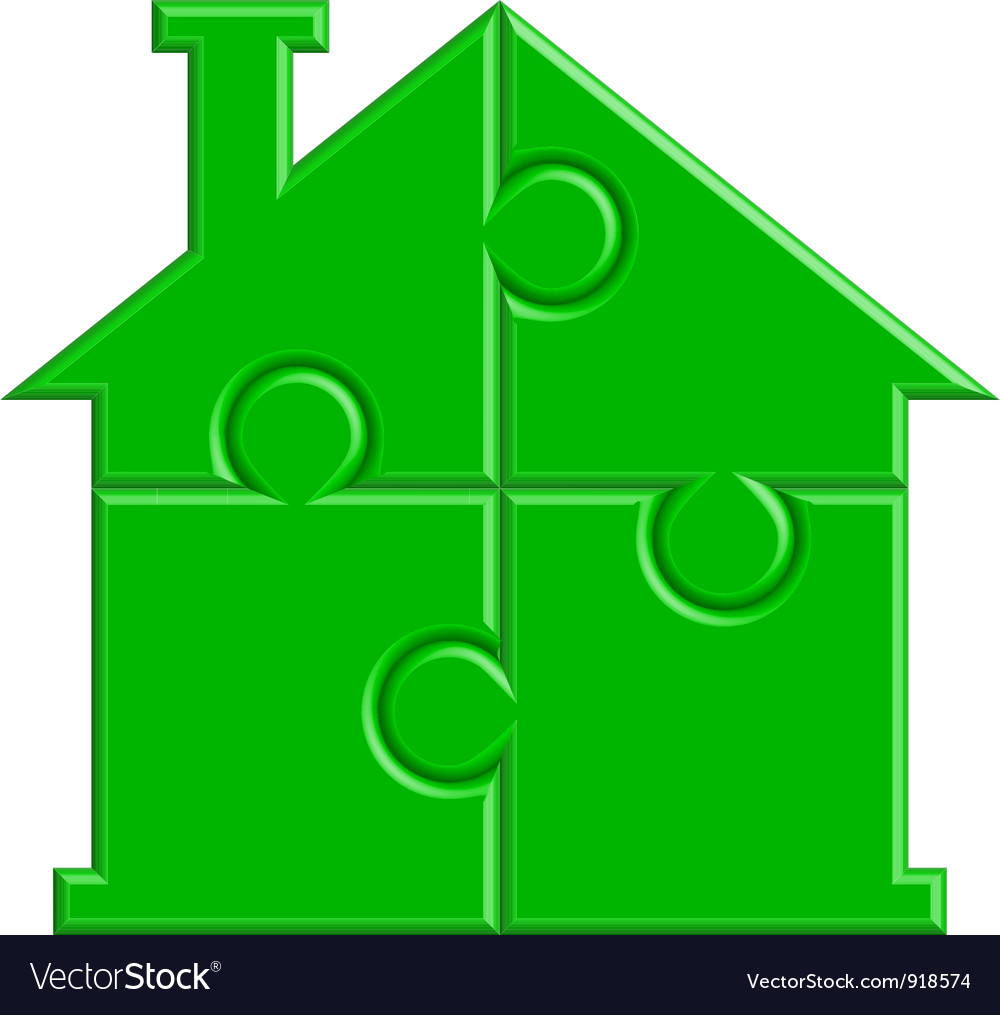 House from puzzle vector
