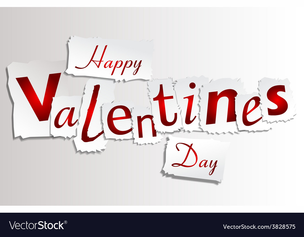 Paper valentines day vector