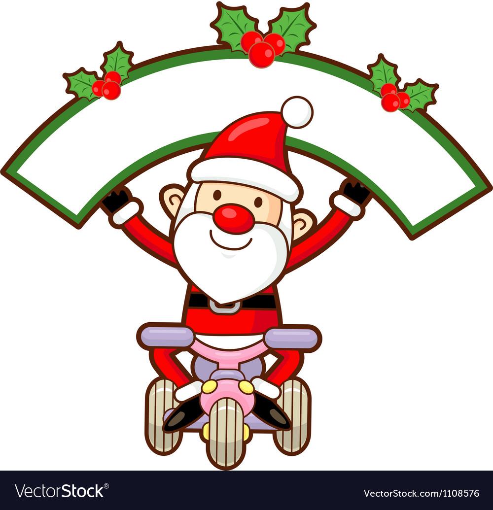Santa claus mascot the event activity vector