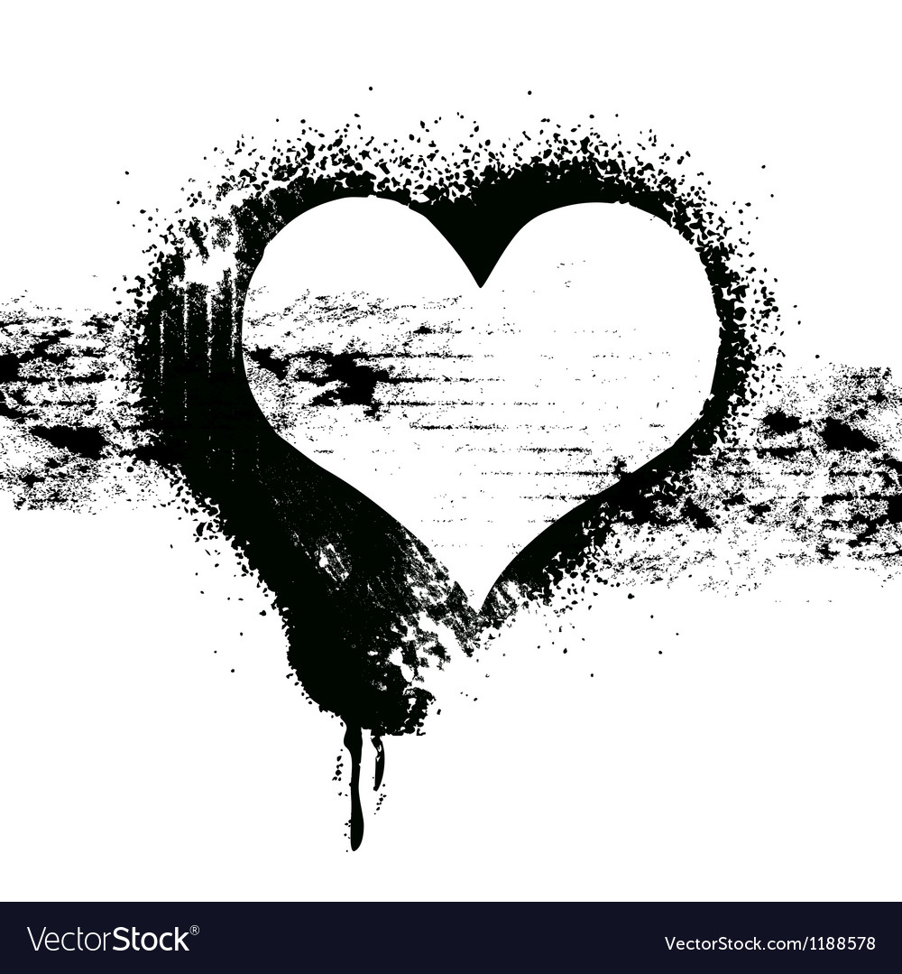 Grunge heart symbol design vector