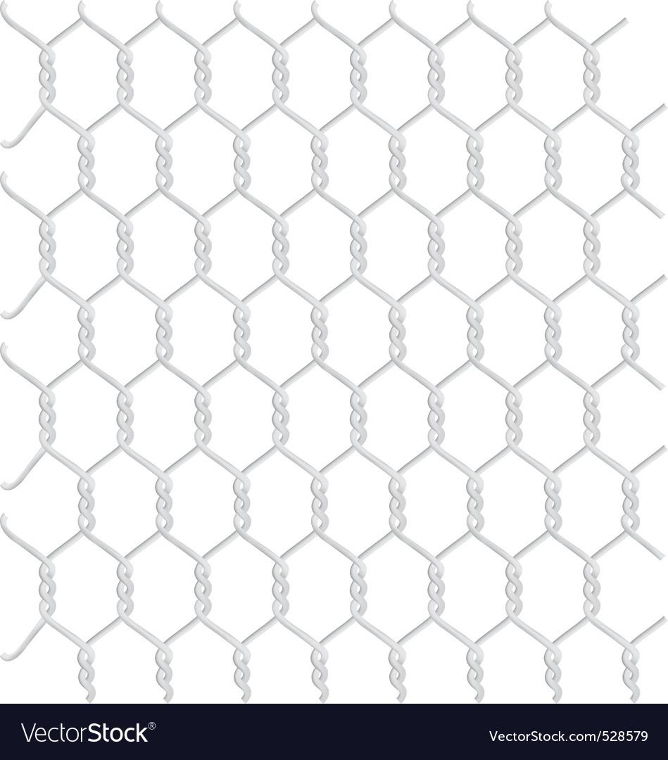 Braided galvanized wire vector