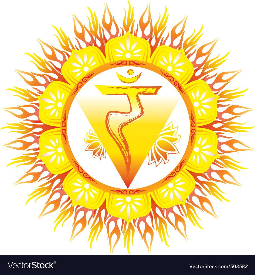 Solar plexus manipuri chakra vector