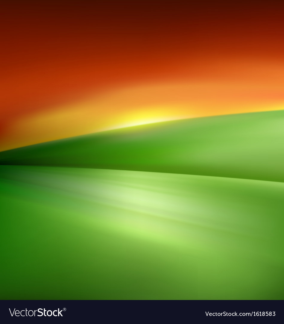 Minimalist landscape vector