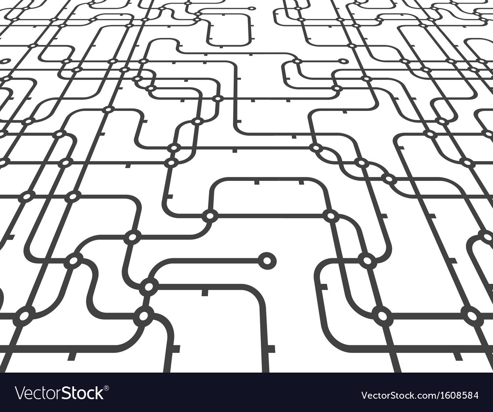 Abstract connection scheme in perspective vector