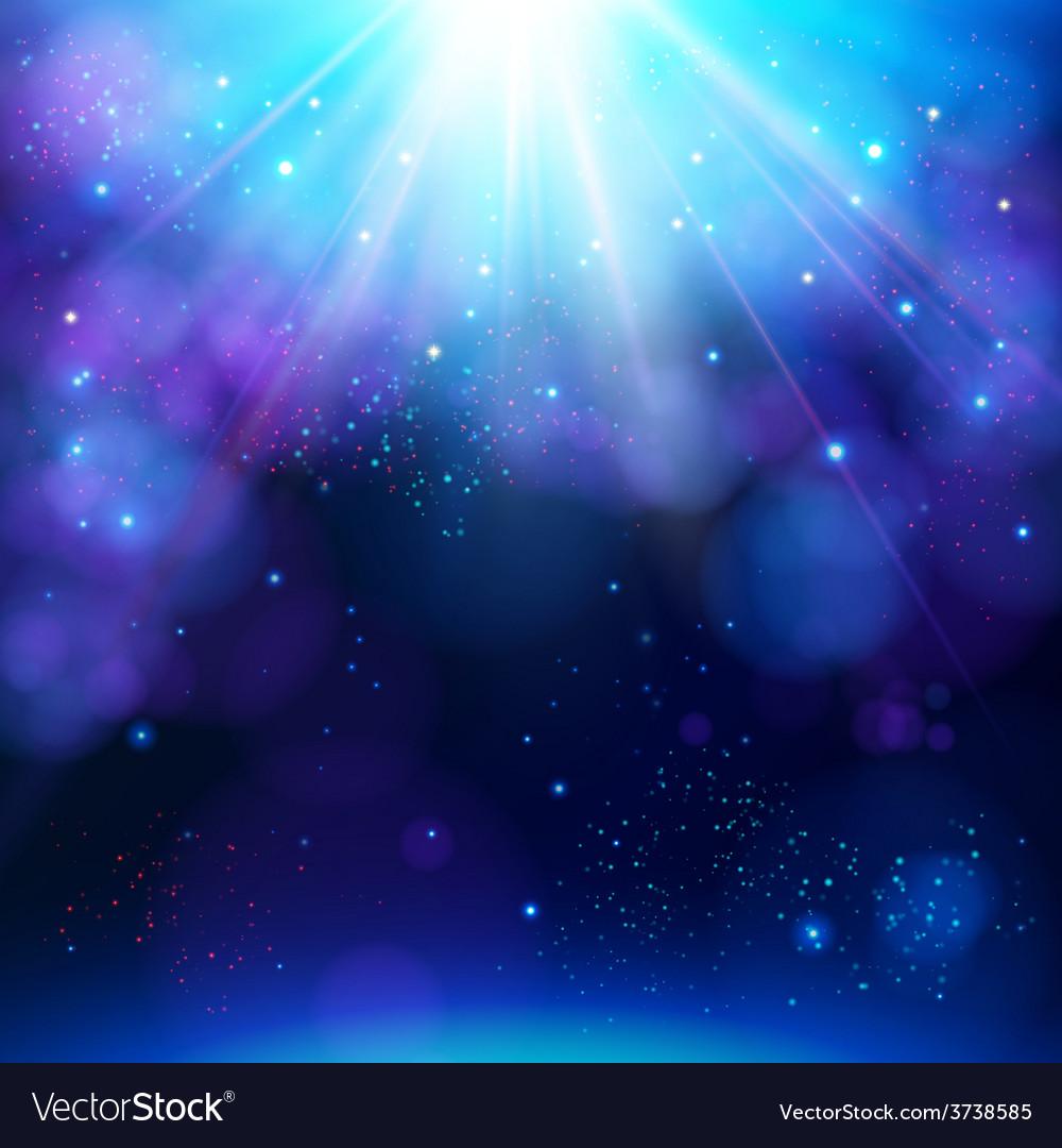 Sparkling blue festive star burst background vector
