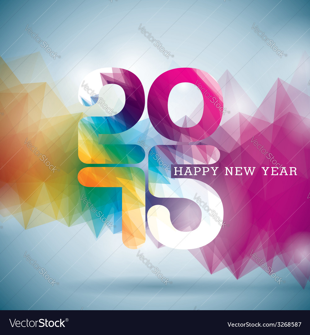 Happy new year 2015 colorful celebration backgroun vector