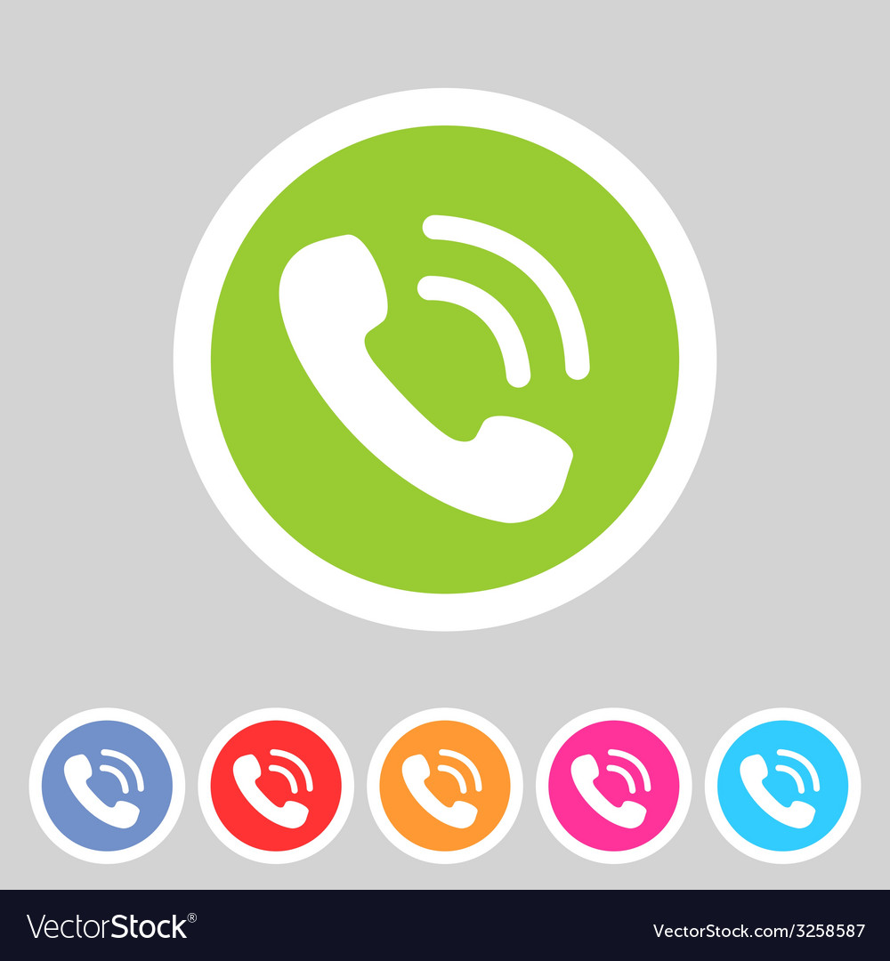 Phone telephone flat icon vector