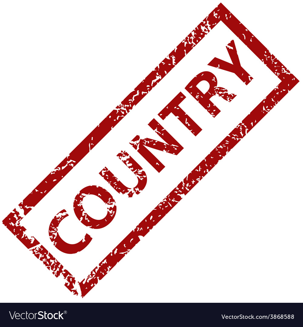 Country rubber stamp vector