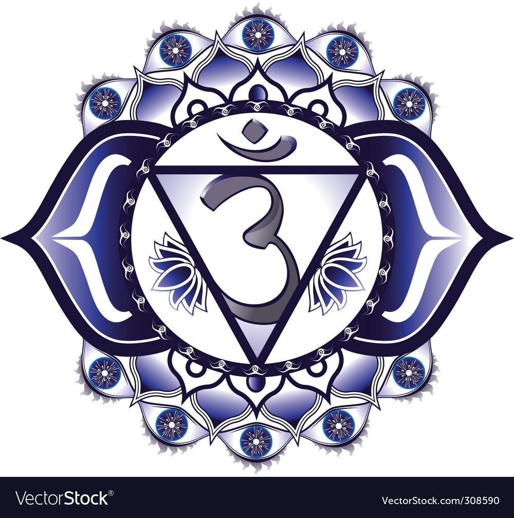 Third eye ajna chakra vector