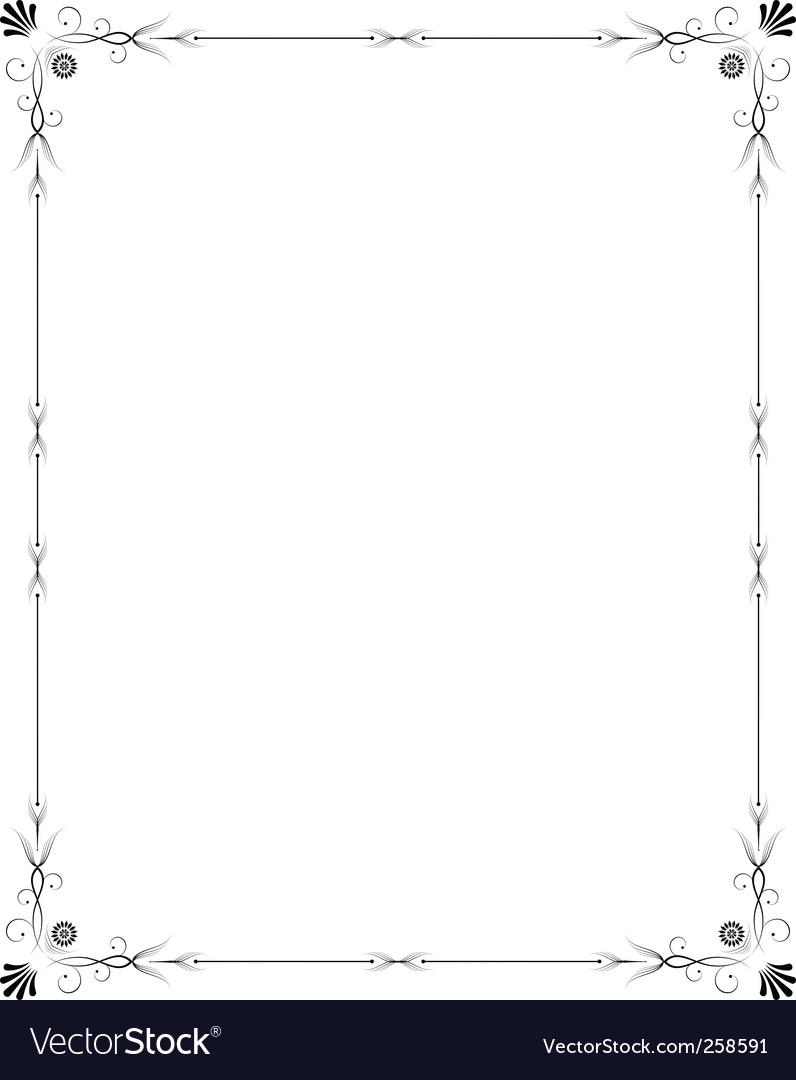 Elegant frame vector