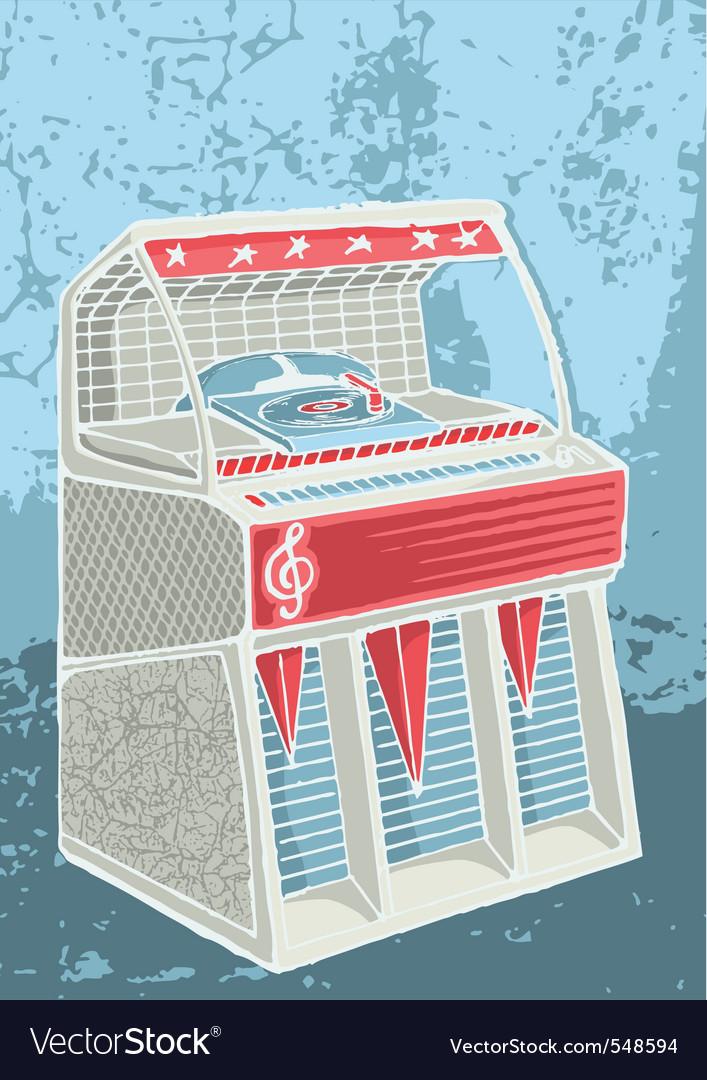 Retro jukebox sketch vector