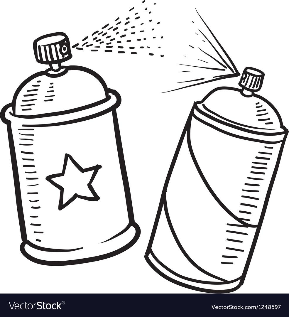 Spray paint cans vector