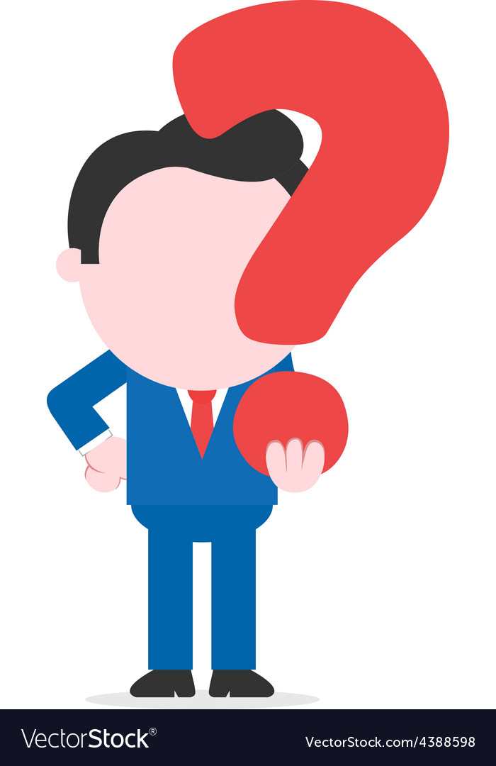 Businessman carrying question mark vector