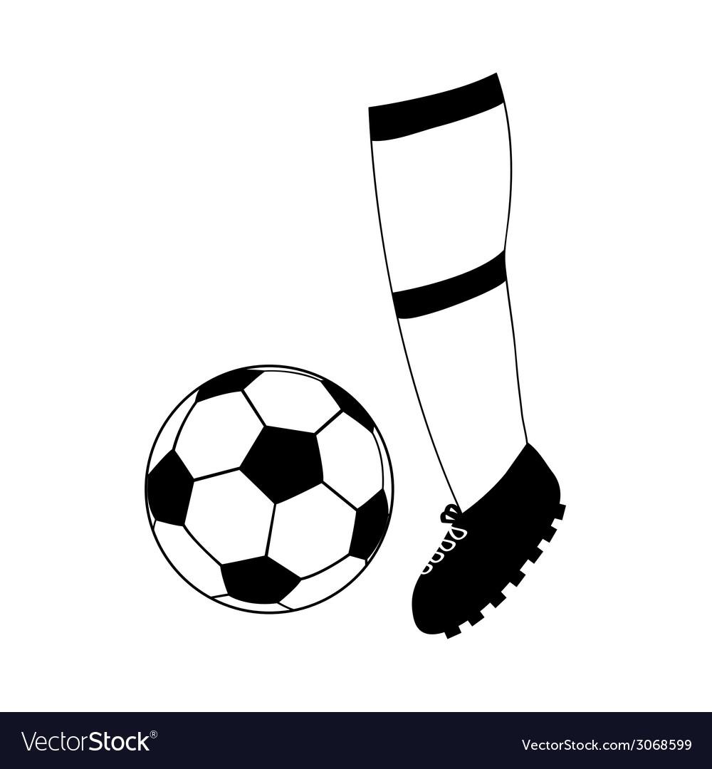 Foot football and soccer ball vector