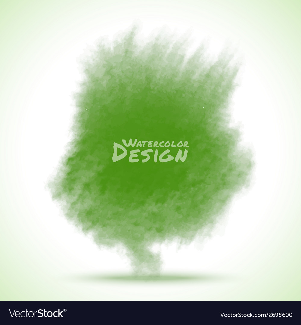 Green watercolor splatter vector