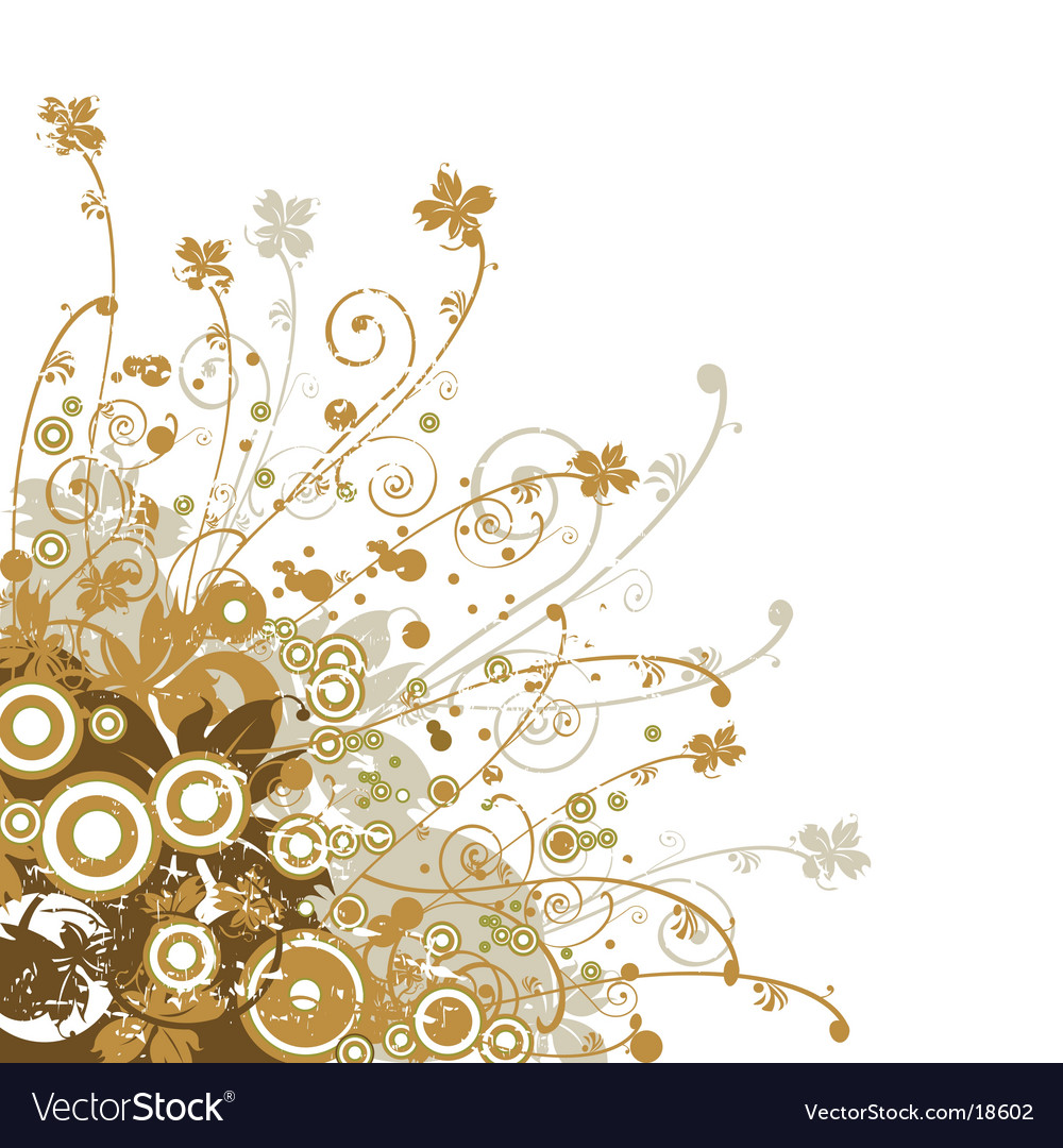 Floral edge design vector