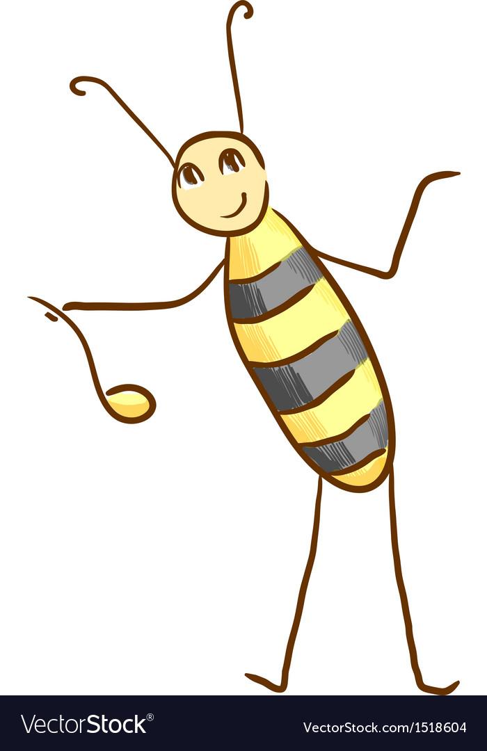Honey bee vector