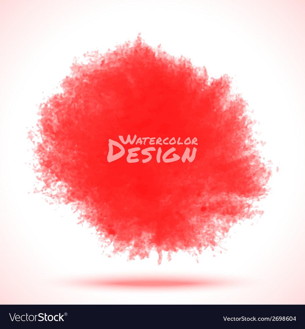 Red watercolor splatter vector