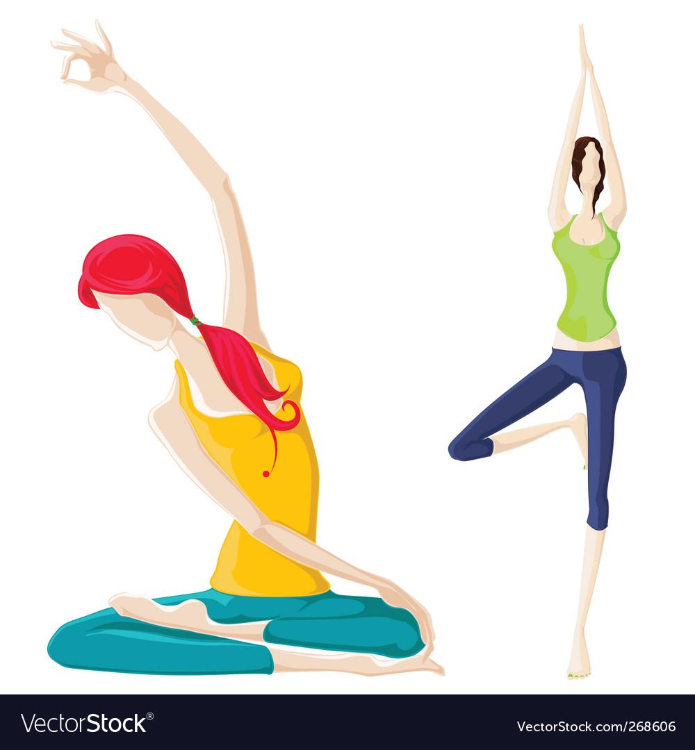 Yoga concept vector