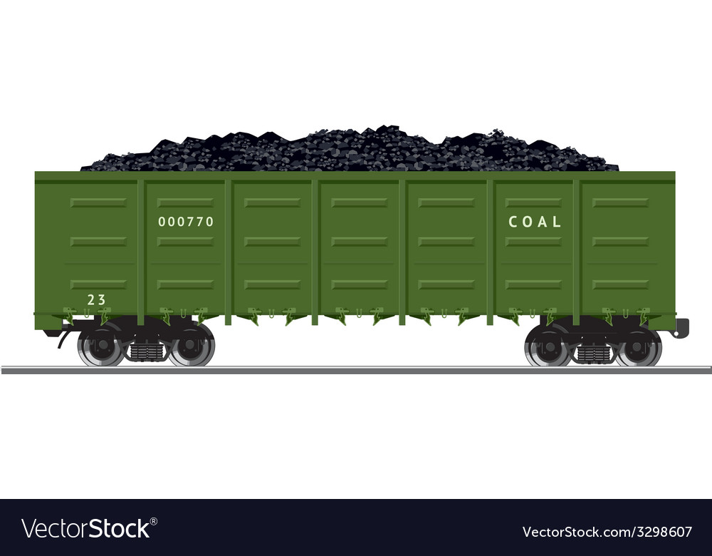 Coal train vector