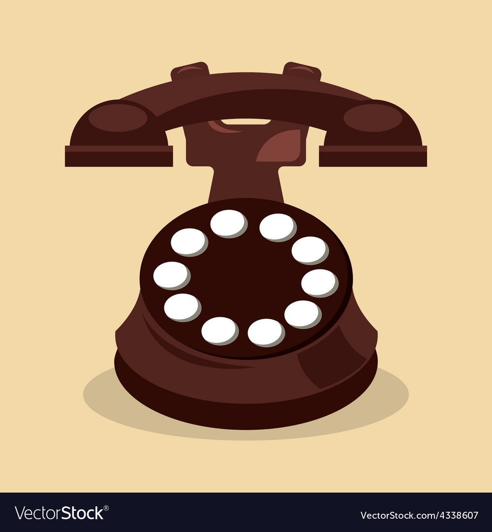 Retro telephone vector