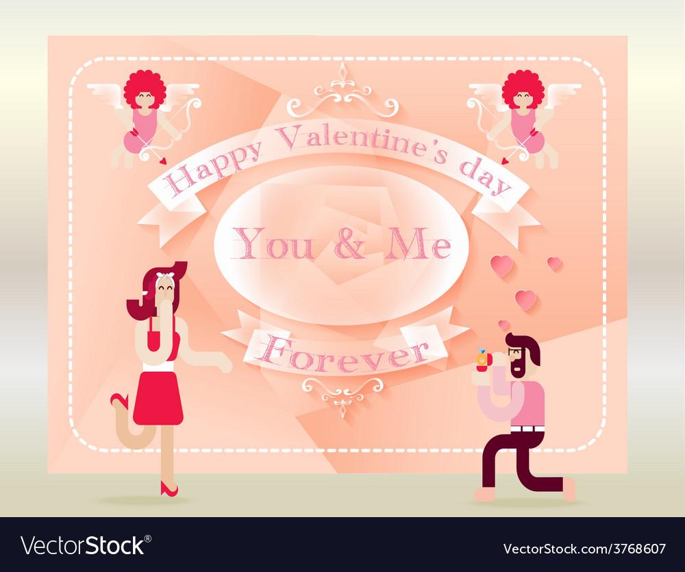 Valentines day background vector