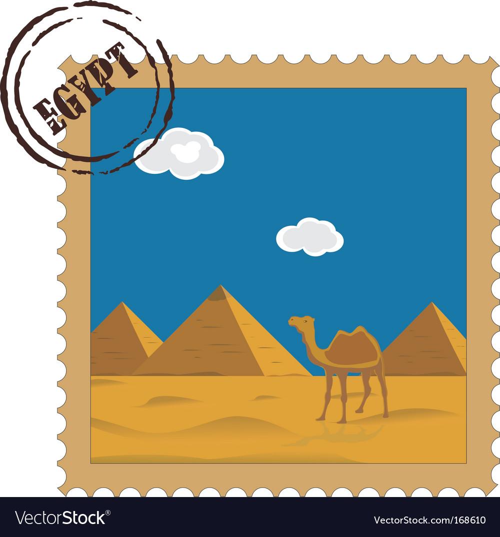 Postal stamp vector