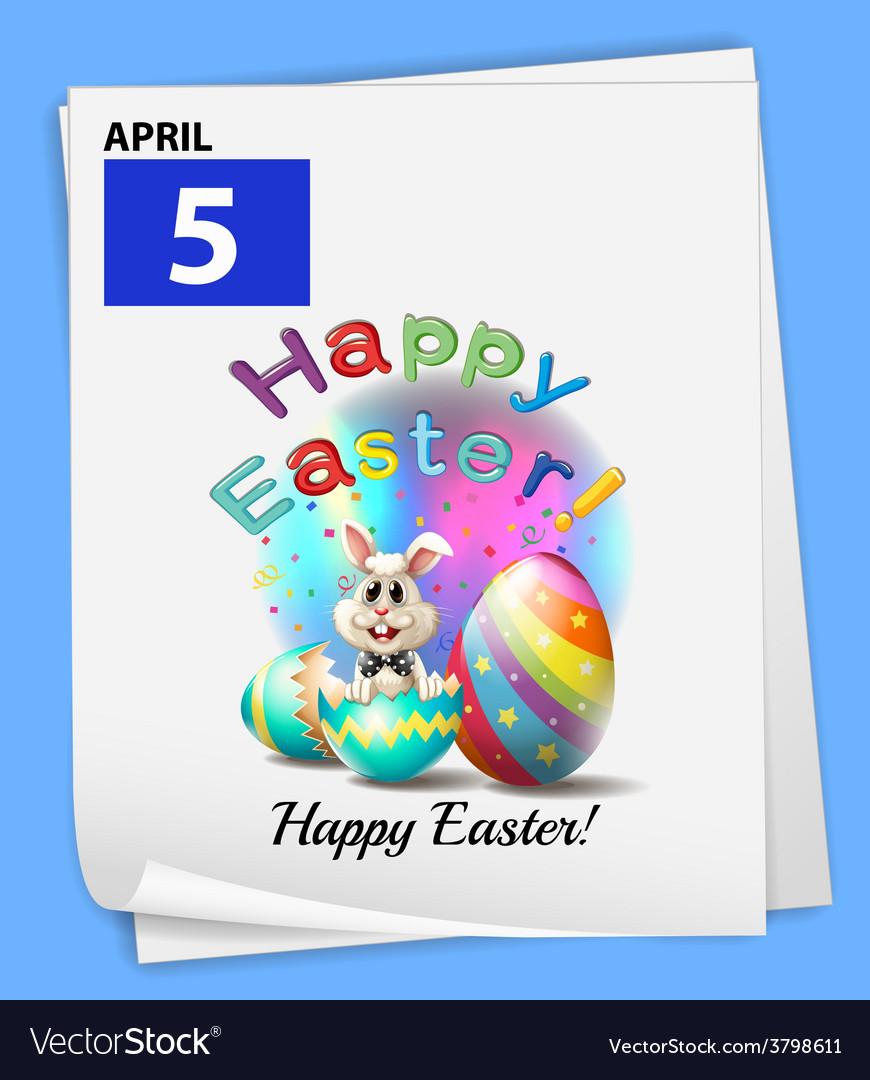 An april 5 celebration vector