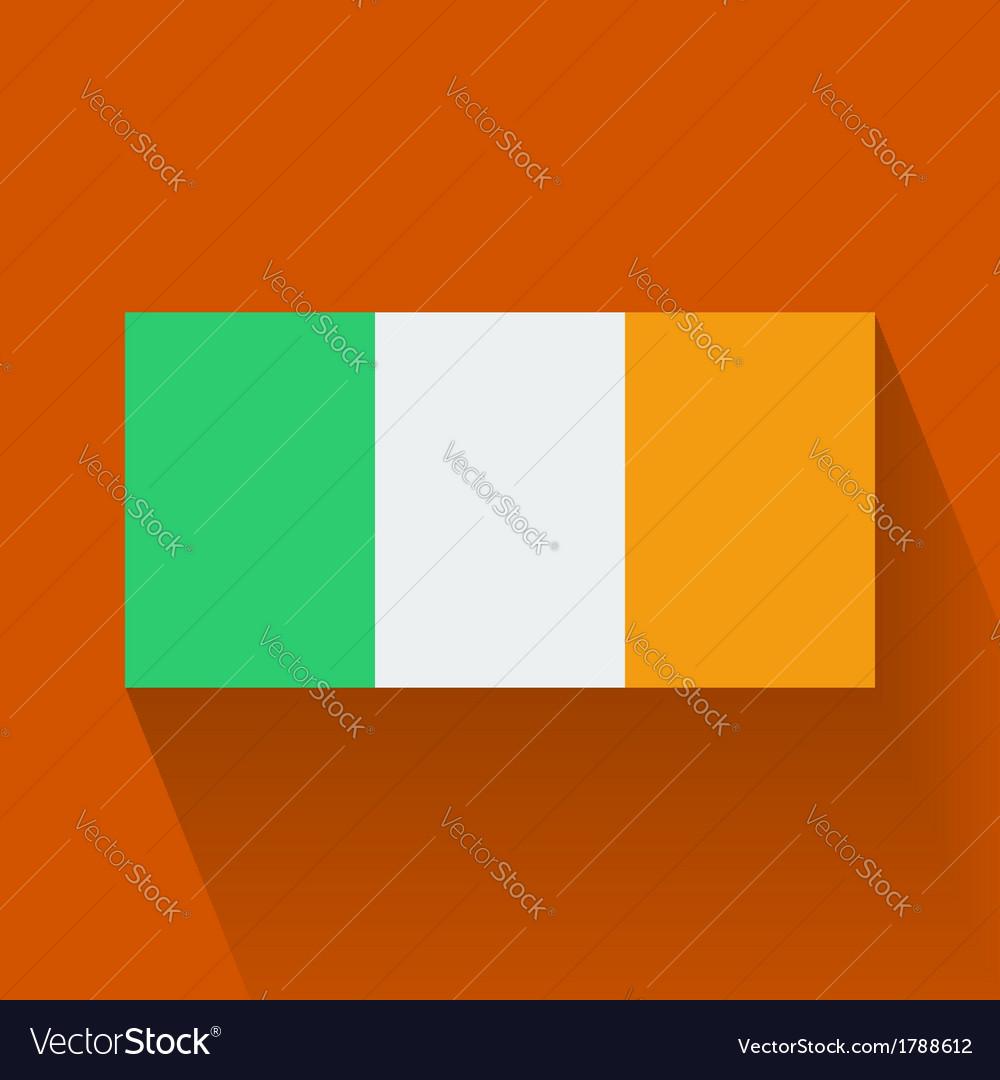 Flat flag of ireland vector