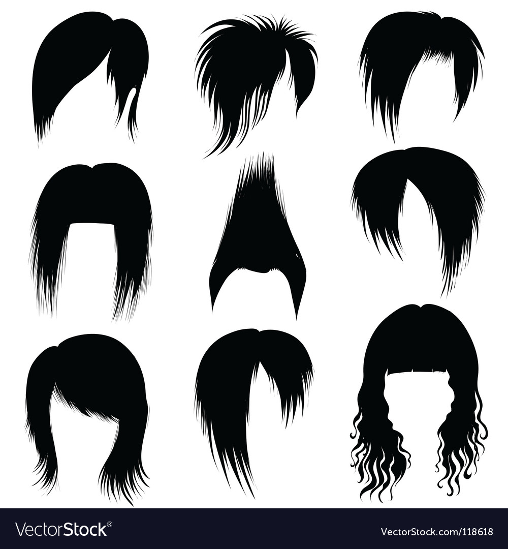 Hair styling icons vector