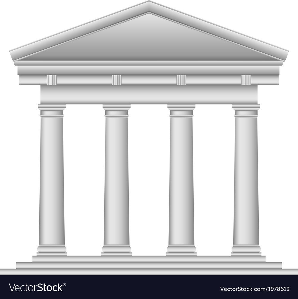Tuscan temple vector
