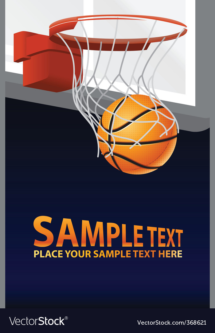 basketball poster vector