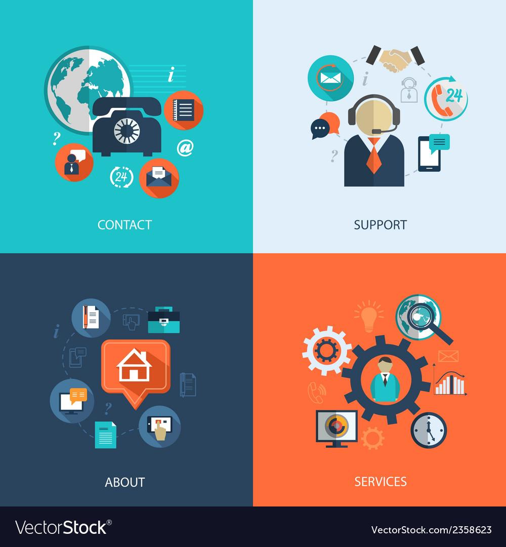 Business customer care service vector
