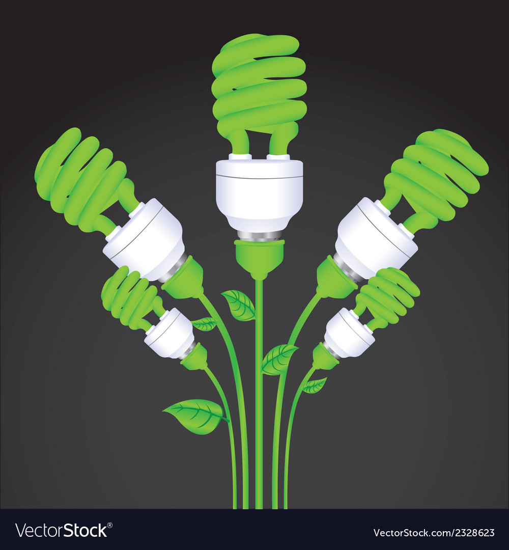 Planting of ecological bulb vector