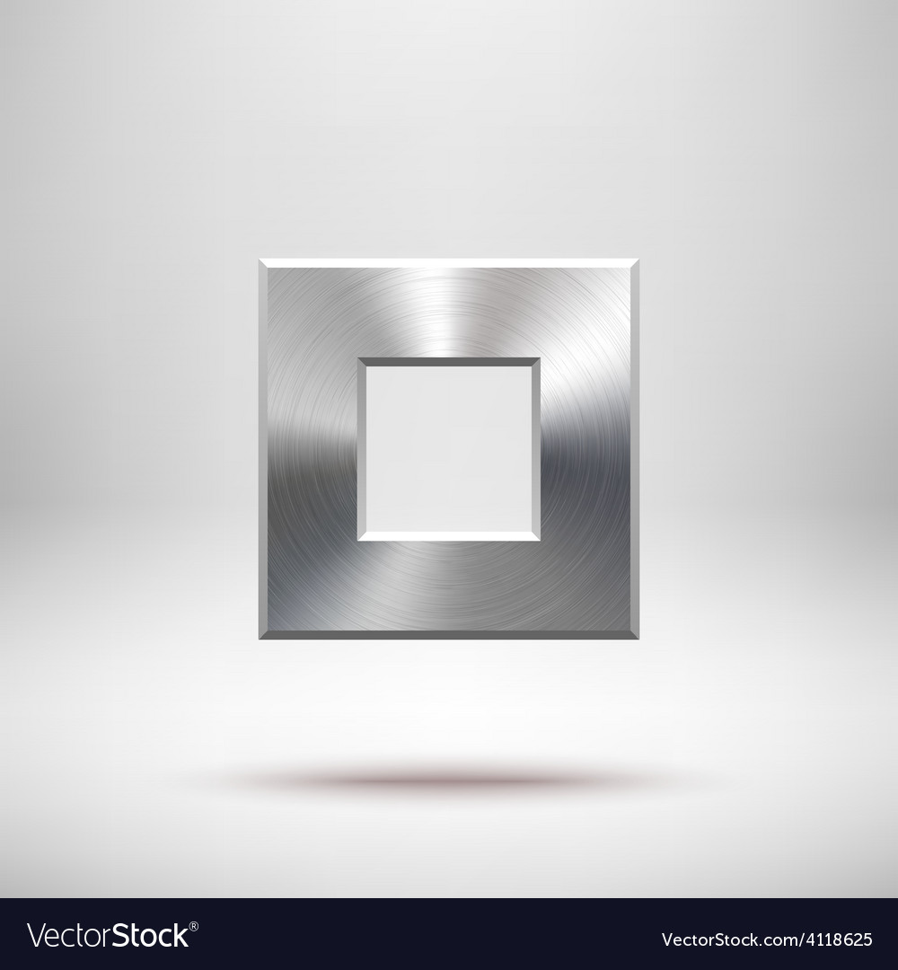 Abstract square button template vector