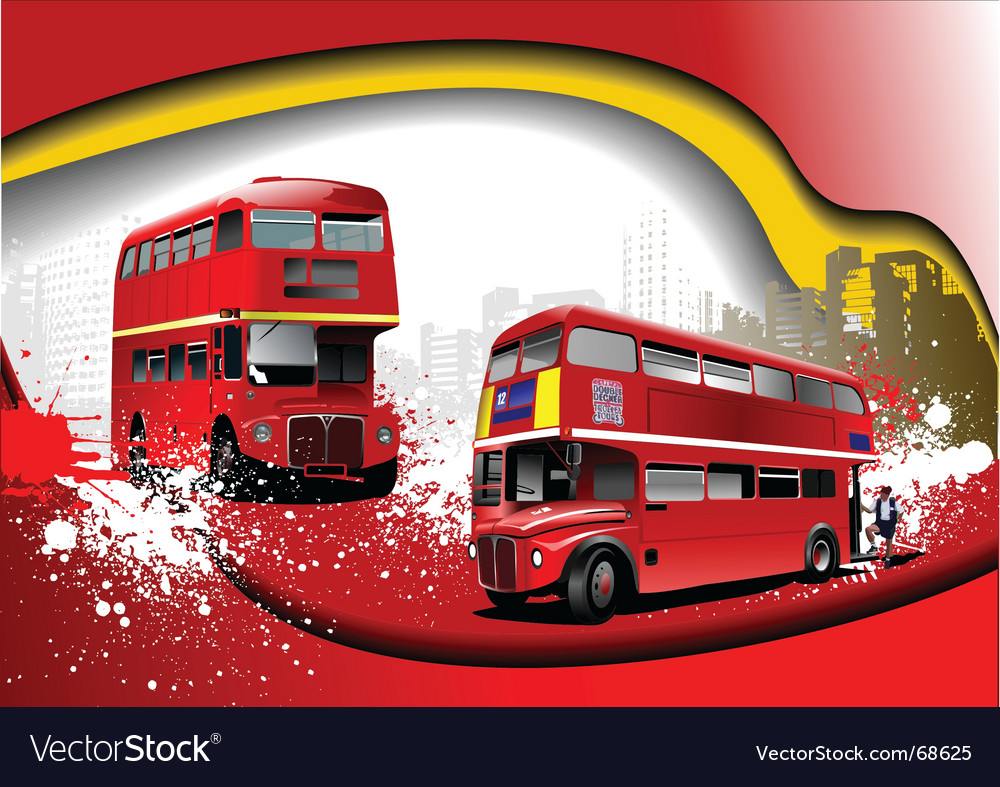 Grunge london background vector