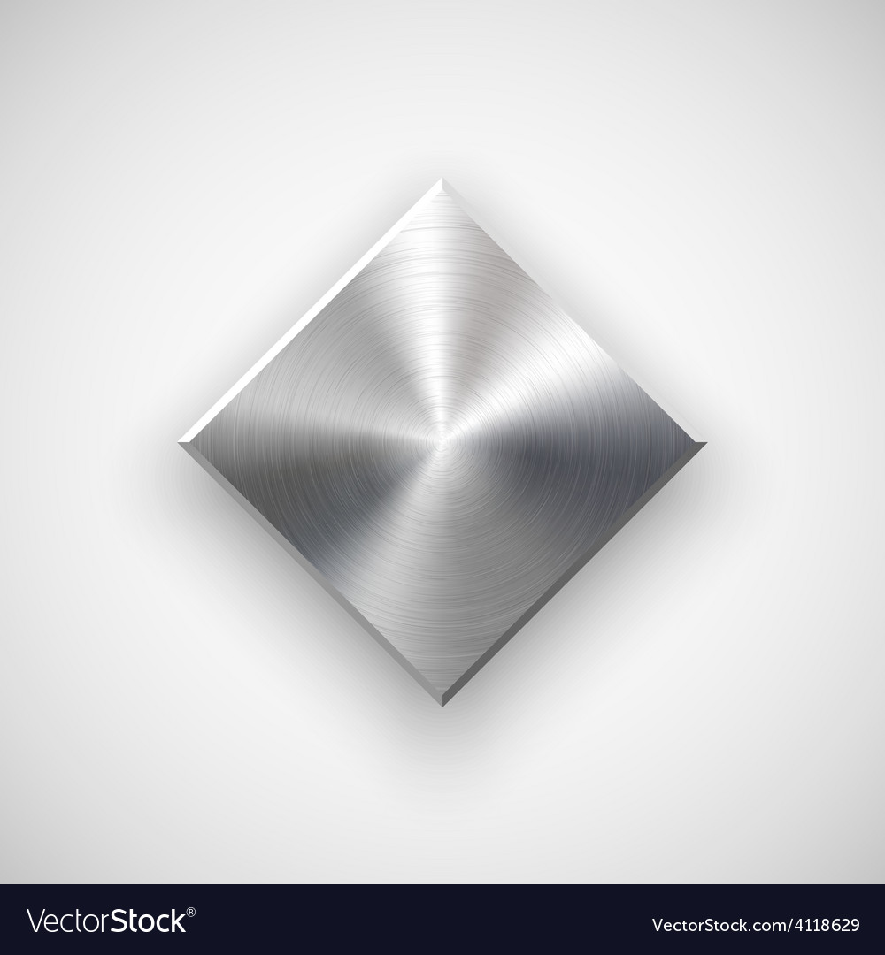 Abstract rhombic button template vector
