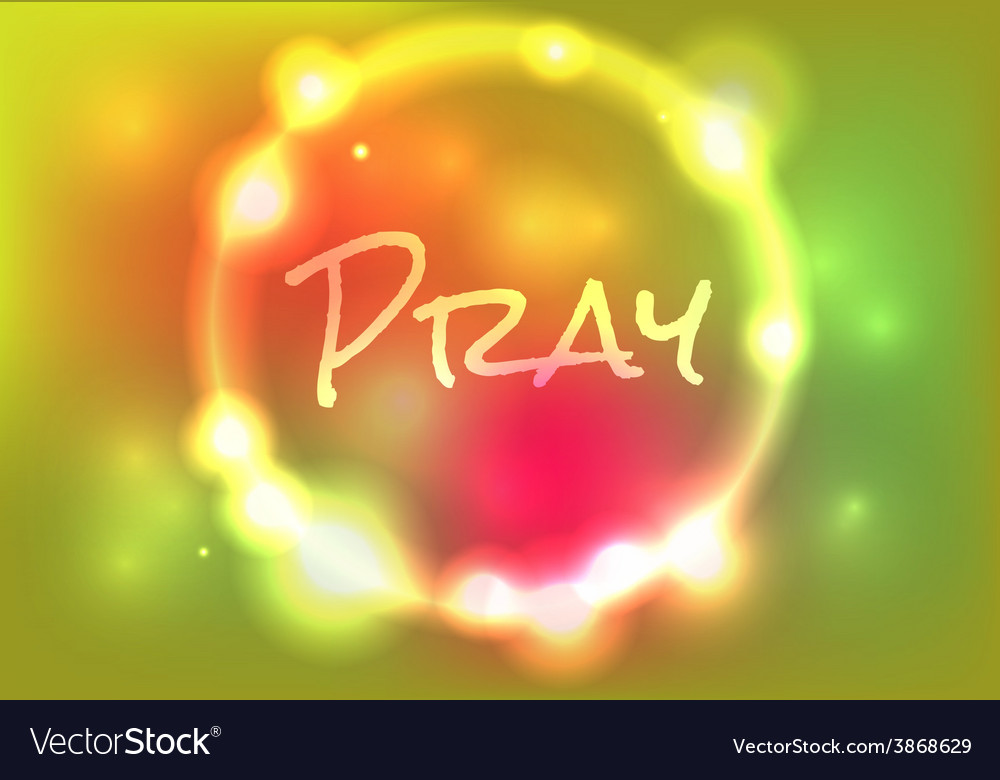 Pray glow vector