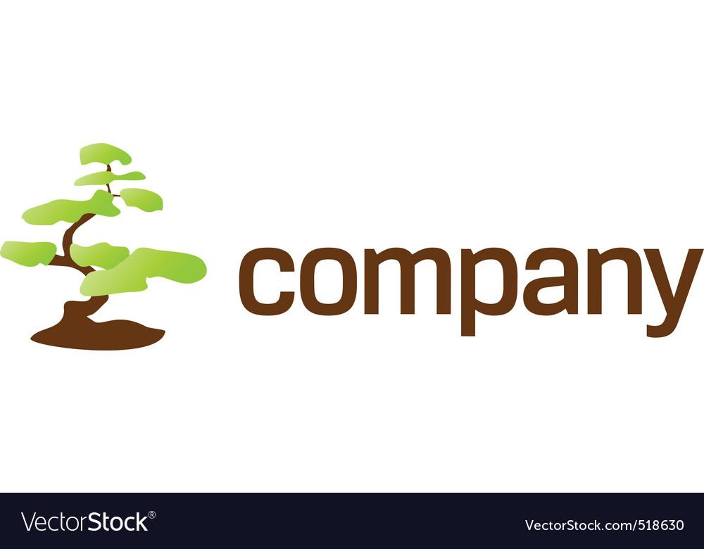 Bonsai tree care logo vector