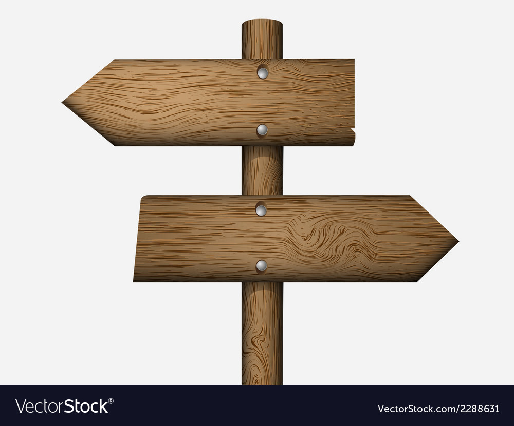 Blank wooden sign vector