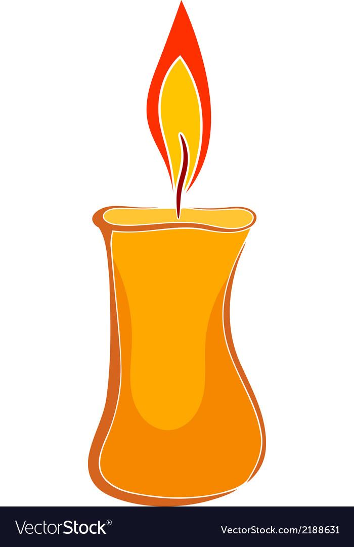 Cartoon wax candle vector