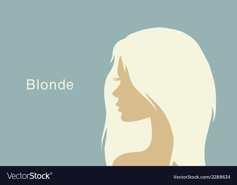 Blonde girl in profile vector