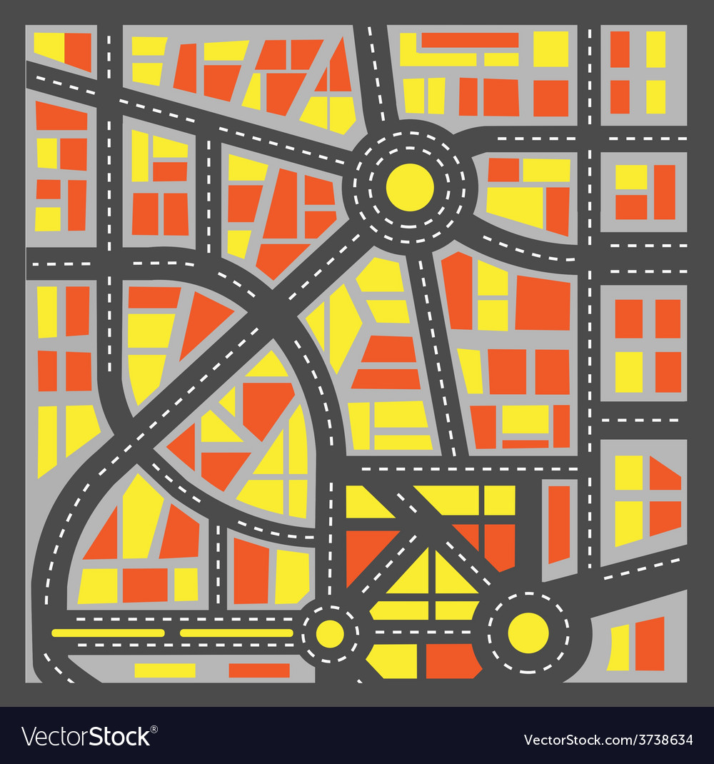 Plan city vector